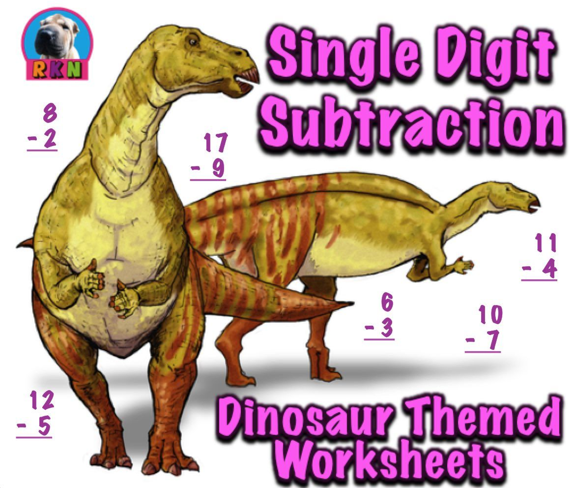 Dinosaur Subtraction Worksheet