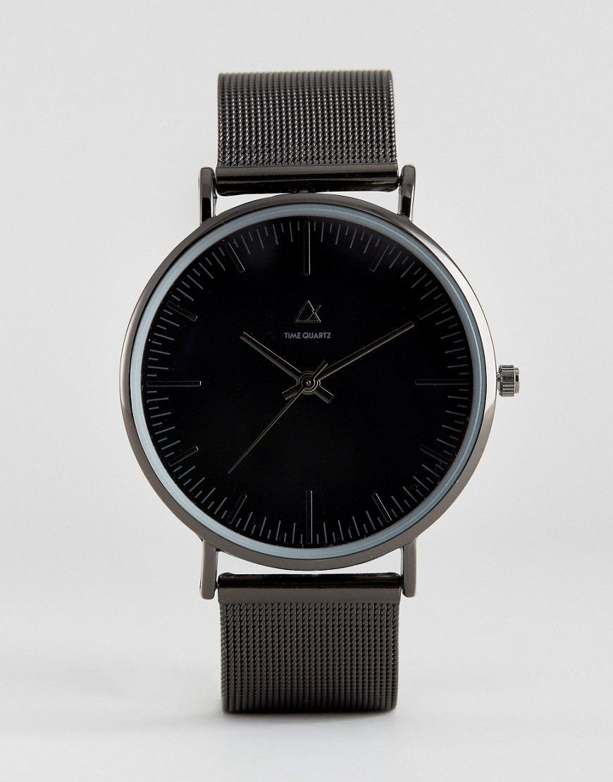 Get this Asos's watch now! Click for more details. Worldwide shipping. ASOS Mesh Strap Watch In Black - Black: Watch by ASOS, Stainless steel mesh strap, Stainless steel case, Three hand movement, Dash indices, Single crown to side, 45% Zinc Alloy, 35% Stainless Steel, 10% Brass, 10% Glass, Presented in a gift box. ASOS menswear shuts down the new season with the latest trends and the coolest products, designed in London and sold across the world. Update your go-to garms with the new shapes…