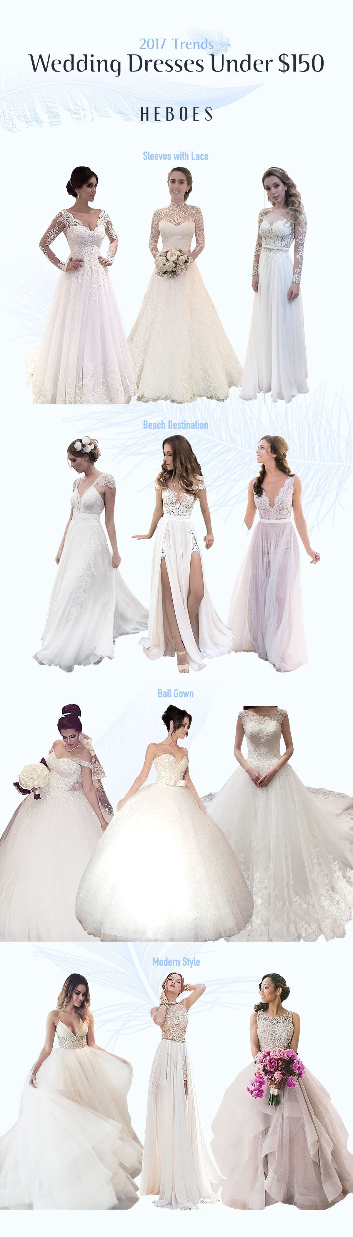 Cheap #Wedding Dresses & Gowns On Sale! Choose your favorite #Hebeos ...