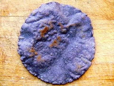 Blue masa flour tortilla