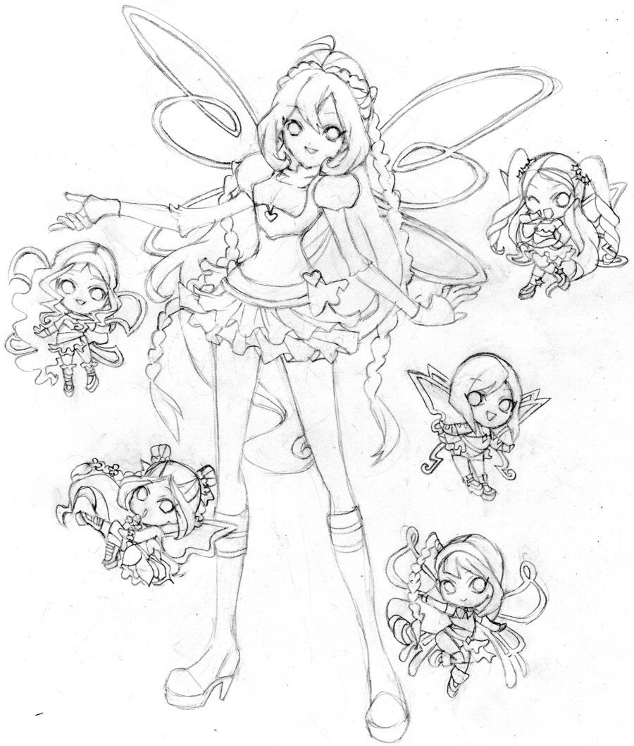 Bloom Winx Club Chibi Believix By Butterflywingies Deviantart Com