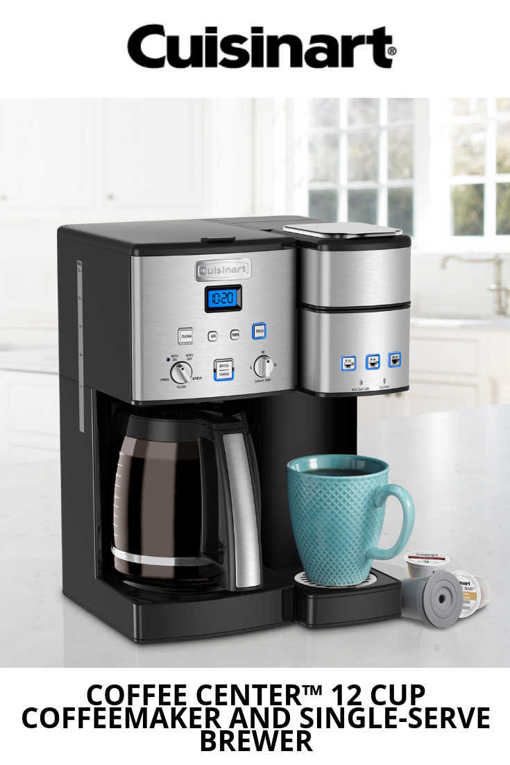 57b243915bf It s time for an afternoon coffee break! Sip solo or brew coffee for a  crowd with our Coffee Center™ 12 Cup Coffeemaker and Single-Serve Brewer.