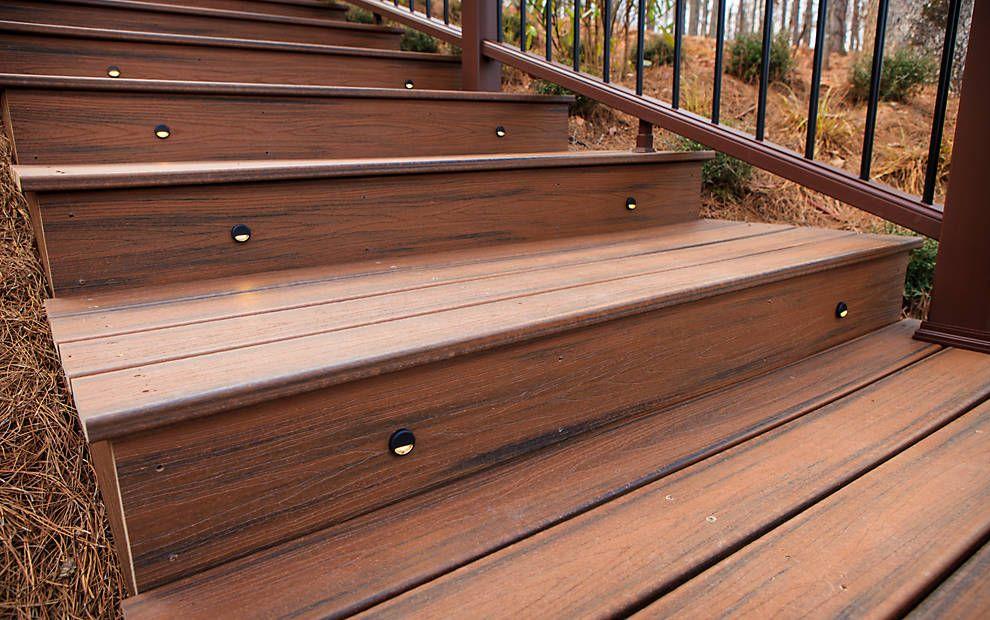 Best Trex Transcend Decking Spiced R*M Stairs Riser Lights 640 x 480
