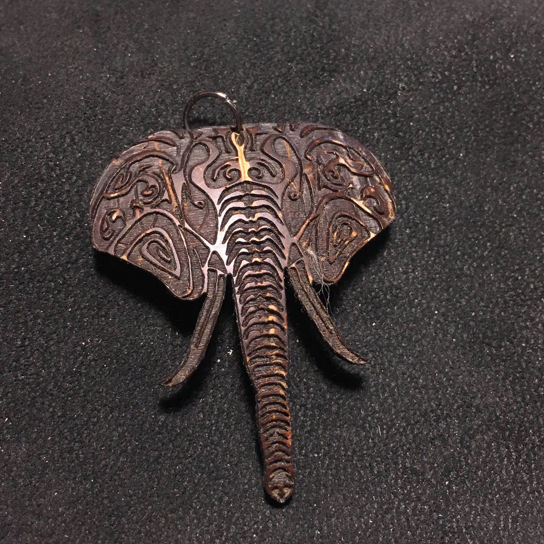 Coconut shell elephant head pendant aloadofball Image collections