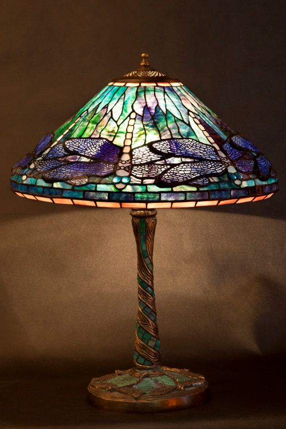 Dragonfly lamp stained glass tiffany lamp desk lamp bedside lamp table lamp standing lamp mosaic lamp kitchen light dragonfly art