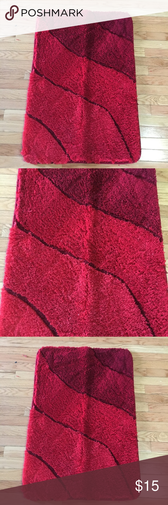 Plush Washable Red Bathroom Rugs Large Like New Luxury Large Red Bath Rug This Sculpted Red Bathroom Rug Has A Red Bathroom Rugs Bathroom Red Bathroom Rugs