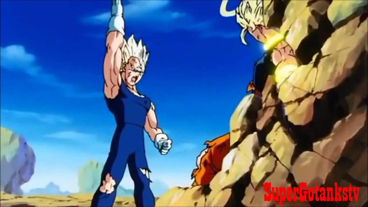 SSJ2 Majin Vegeta vs SSJ2 Goku full fight