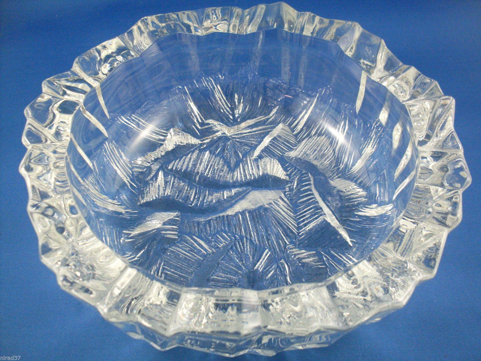 Hoya Japan Crystal Iceberg Bowl 1961 19cm Vintage Glass Pinterest Japan Bowls And Crystals