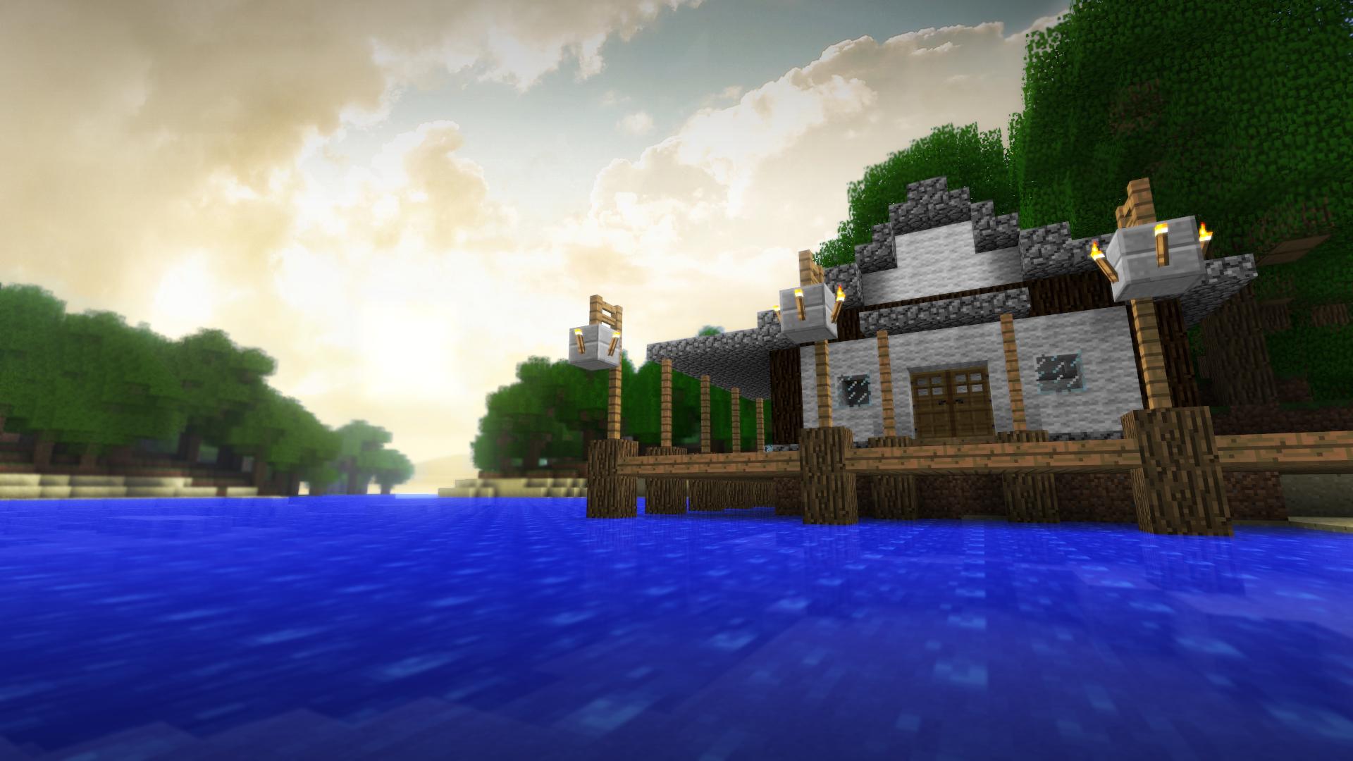 домик в лесу коло моря в майнкрафт #6