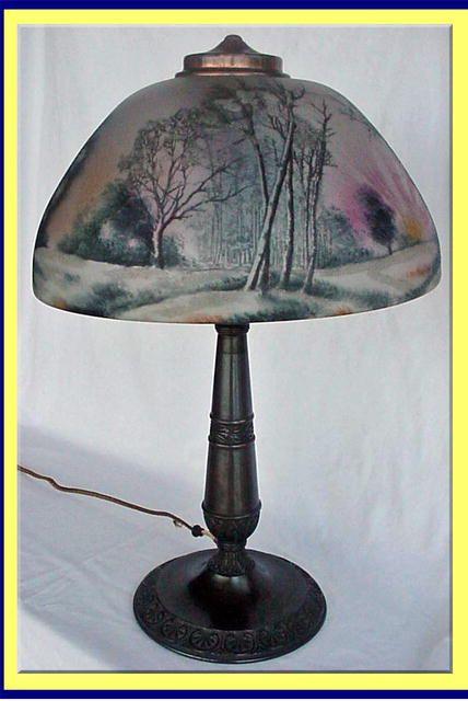 antique lamps | ANTIQUE LIGHT: REVERSE PAINTED LAMP ...