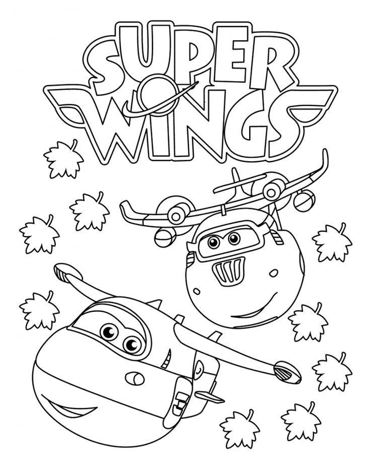 pdf Super Wings Coloring Pages - Best Coloring Pages For ...