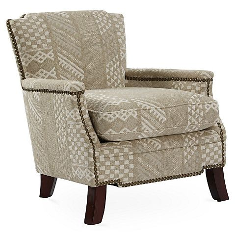 Leona Accent Chair Beige Clearance Nailhead Chair Furniture