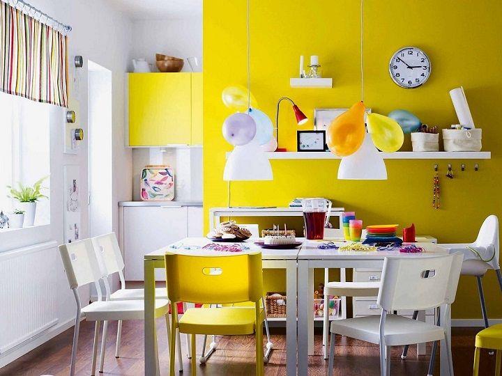 Imagen cocina con paredes amarillas cocinas for Sillas cocina amarillas