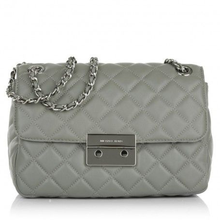 b11bd9f94f99c Michael Kors Tasche – Sloan LG Chain Shoulder Bag Steel Grey – in grau –  Henkeltasche für Damen