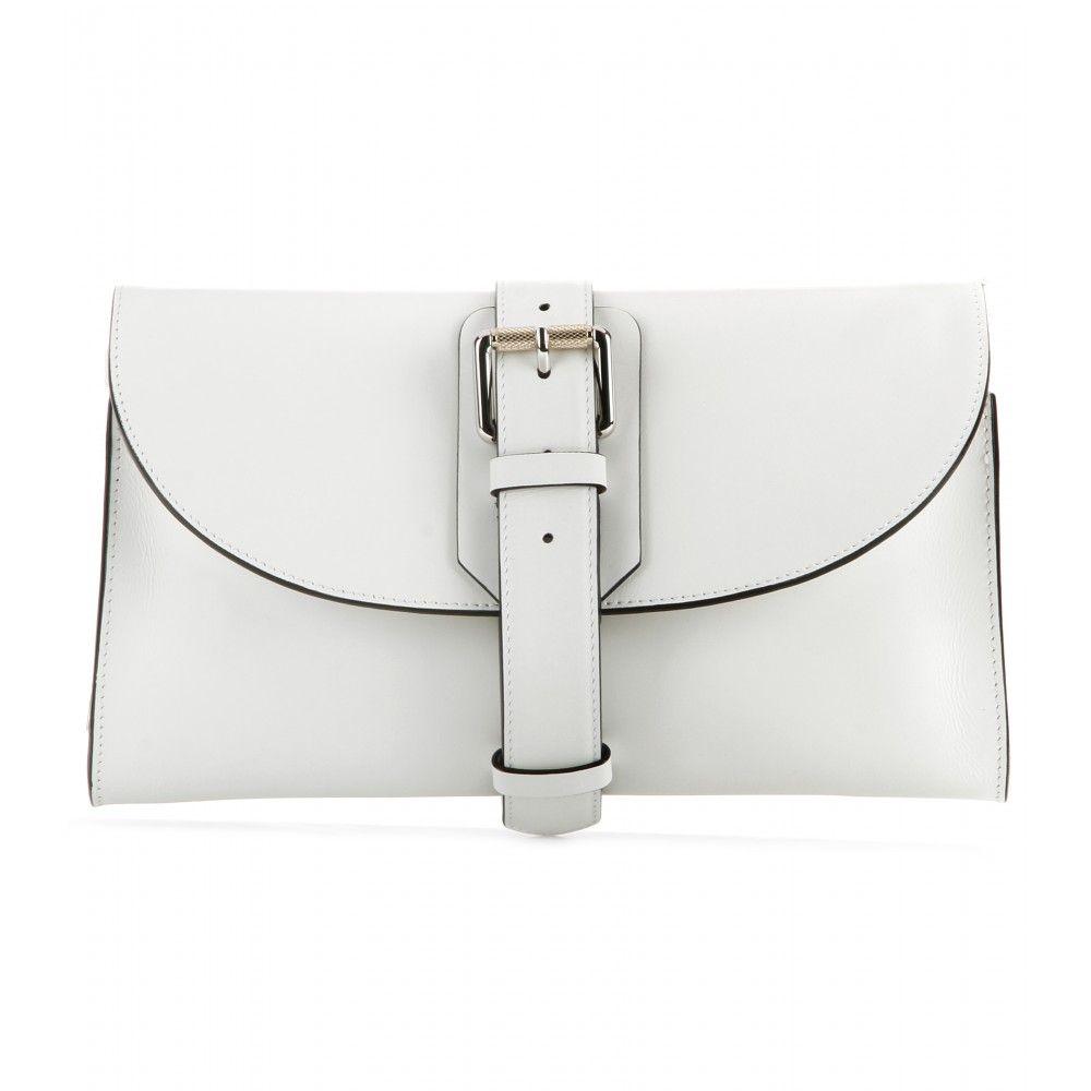 Proenza Schouler - Buckle Bag leather clutch - mytheresa.com GmbH