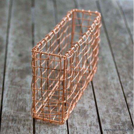 Banette de rangement en cuivre à suspendre - MySweetBoutique (13,95€) (avec images) | Suspendu ...