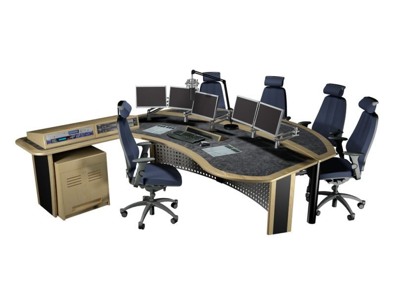 Radio Studio Presenter Desk Knotty Office Tech Equipment Pinterest Desks Studio And Audio