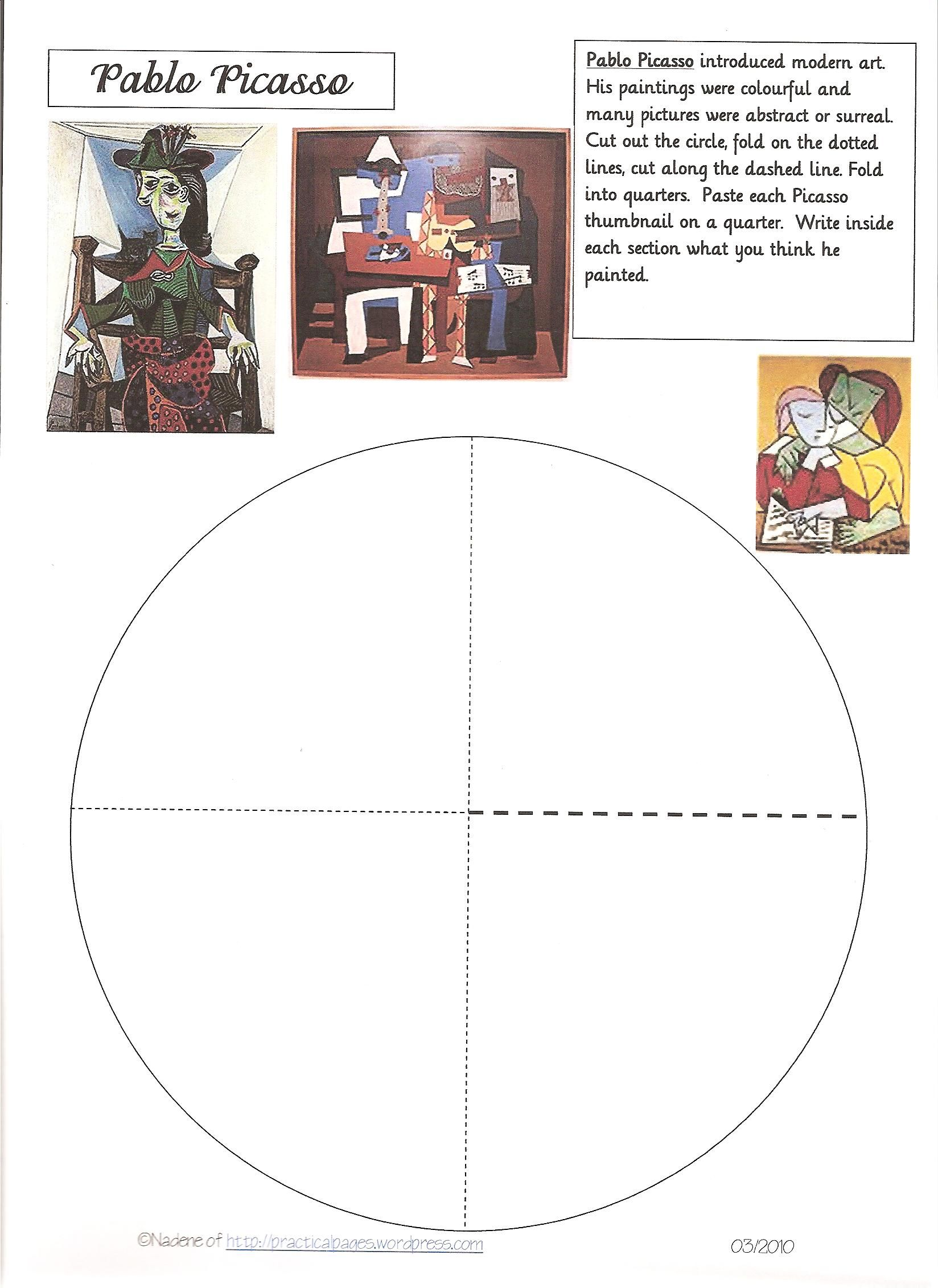 famous artists lapbook loads of minibooks picasso. Black Bedroom Furniture Sets. Home Design Ideas