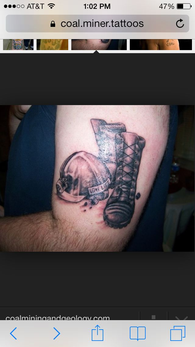 Coal Miner Tattoo : miner, tattoo, Miners, Tattoos, Daughters,, Picture, Tattoos,
