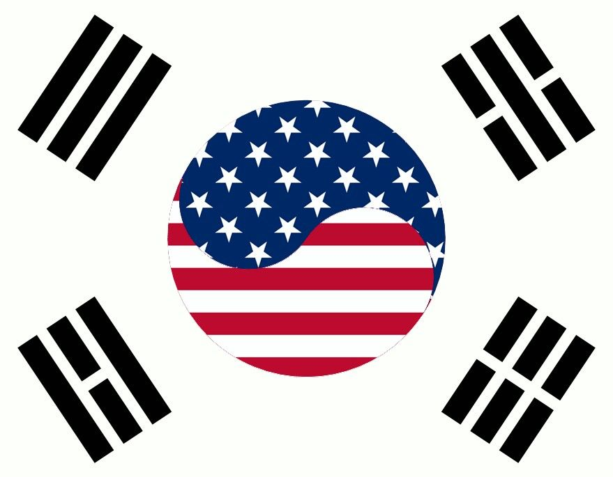 Hybrid Of The Korean Flag And American Flag I M Very Proud To Be Korean And American I Was Born In Korea And Korean Flag Korean American American Flag Tattoo