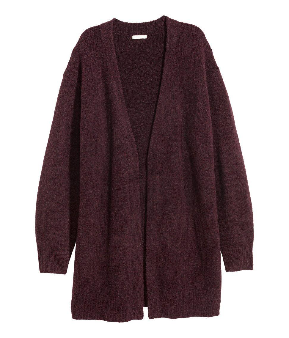 c5b8281a9baf Cárdigan en mezcla de lana | Ciruela | MUJER | H&M MX | clothes ...