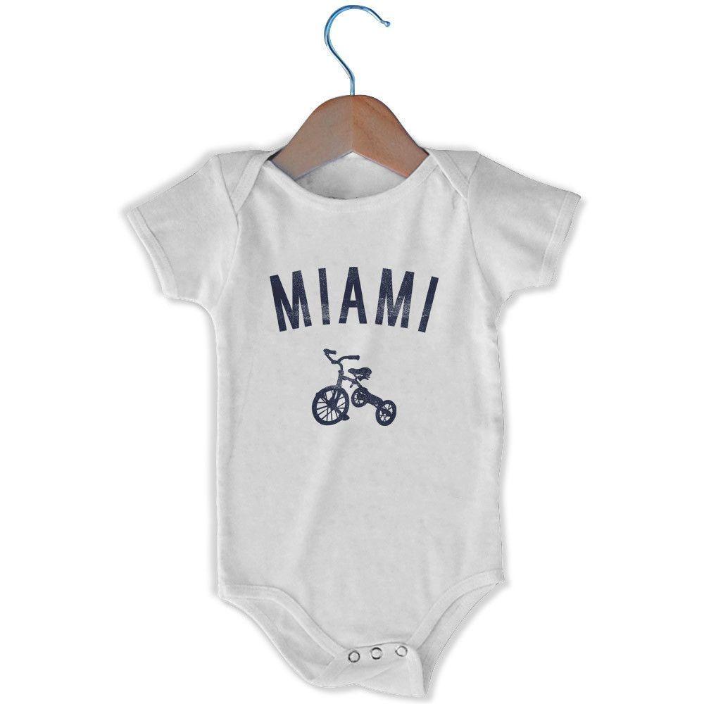 Miami City Tricycle Infant Onesie