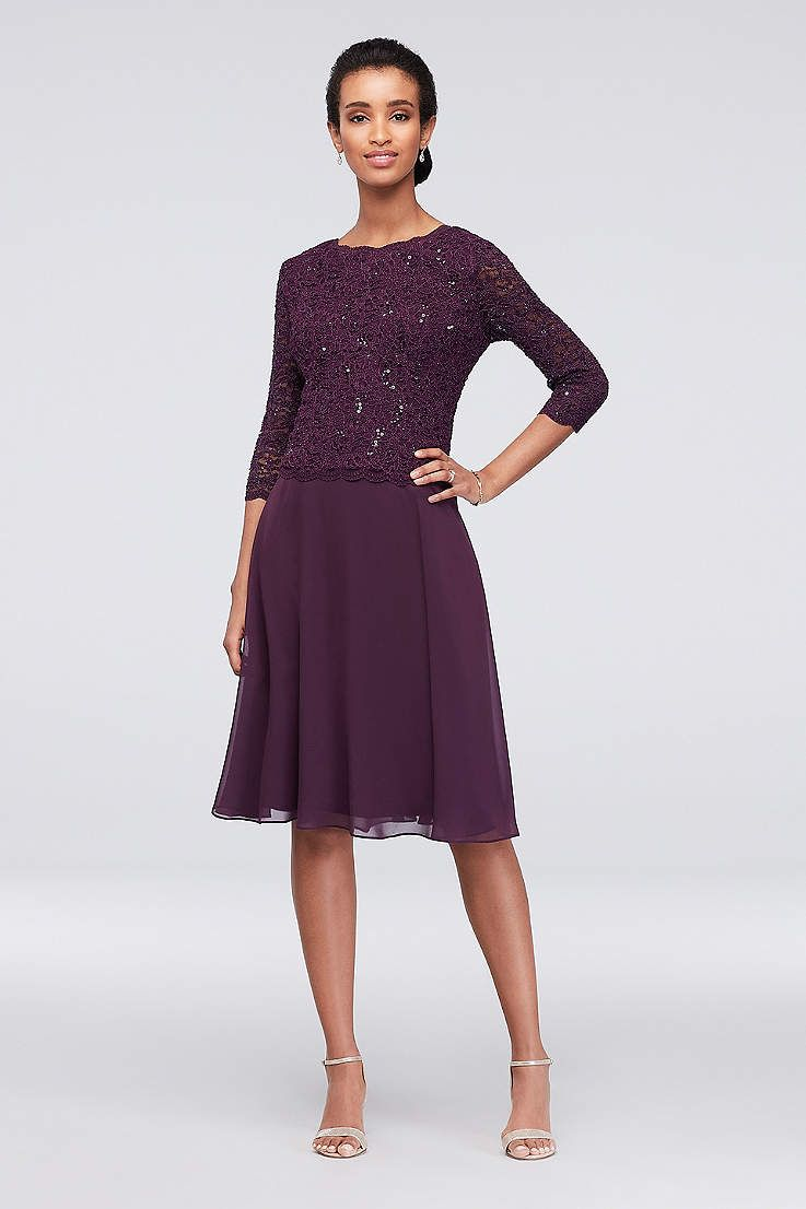 Tea length aline sleeves cocktail and party dress alex