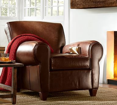 manhattan leather armchair and ottoman polyester wrapped cushions