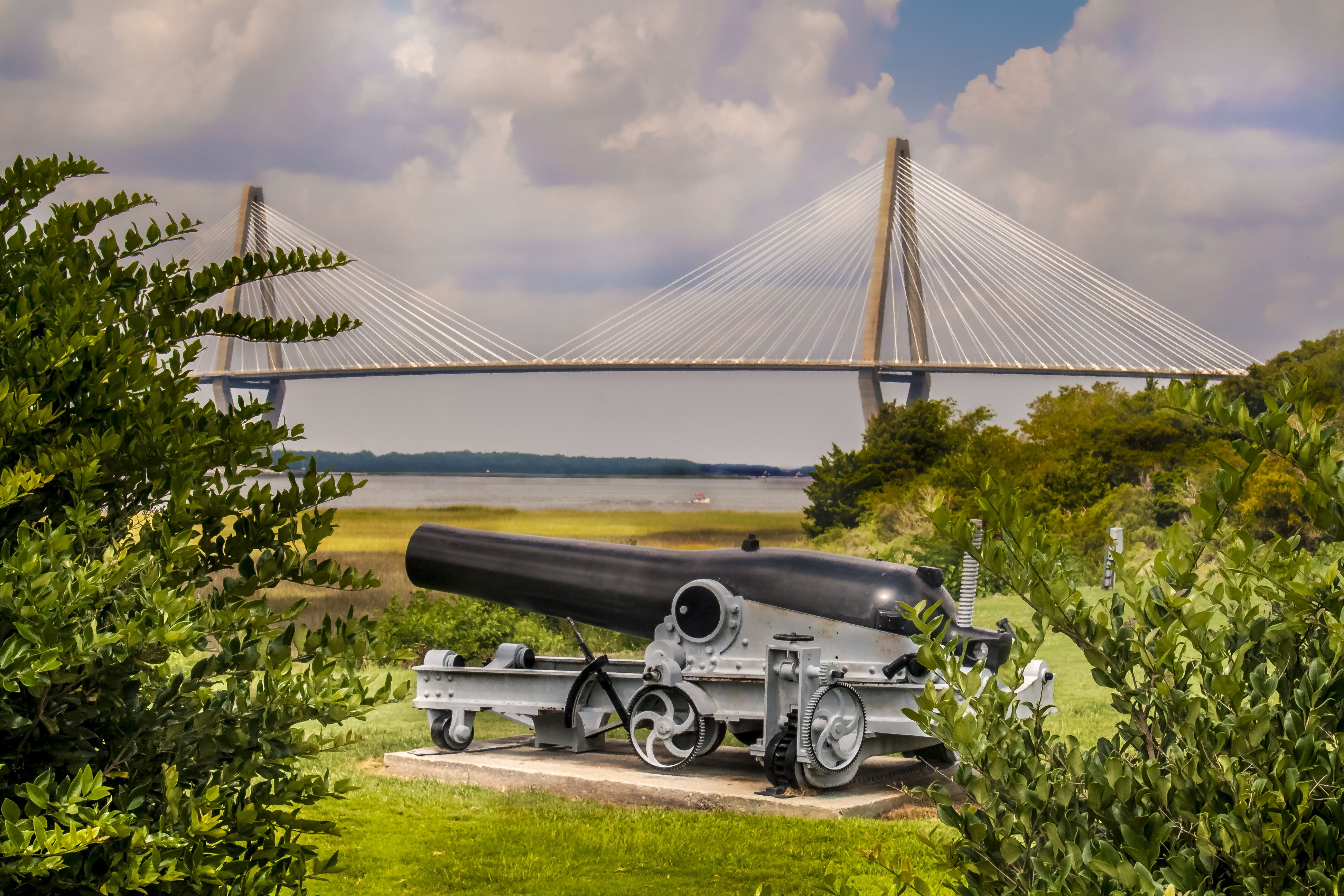 #LOVE My Facebook page: https://www.facebook.com/MrOgdenGeorge/  #GeorgeOgden The Arthur Ravenel Jr. Bridge, also known as the New Cooper River Bridge, is a cable-stayed bridge over the Cooper River in South Carolina, connecting downtown Charleston to Mount Pleasant.