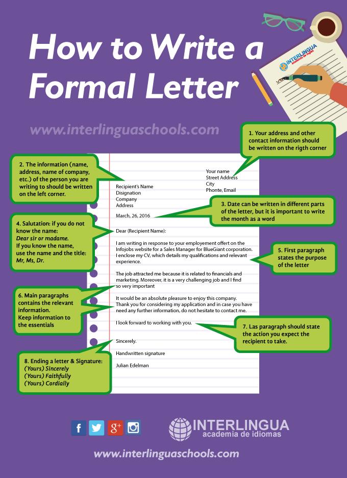Consejos Para Escribir Una Carta Formal En Inglés Carta En Ingles Cómo Escribir Una Carta Carta Formal