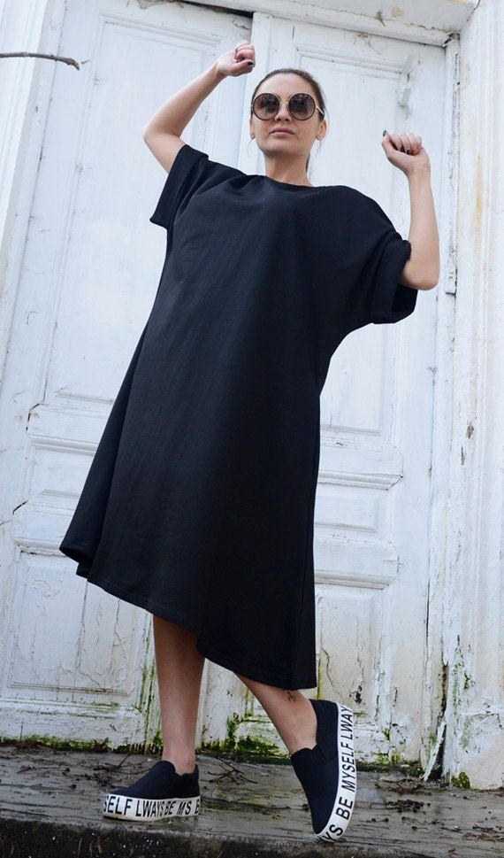 166f4ecf6182 Gorgeous Loose Short Black Dress Super cute and lovely short black dress  that can be worn on many occasions and by everyone! It is very modern,