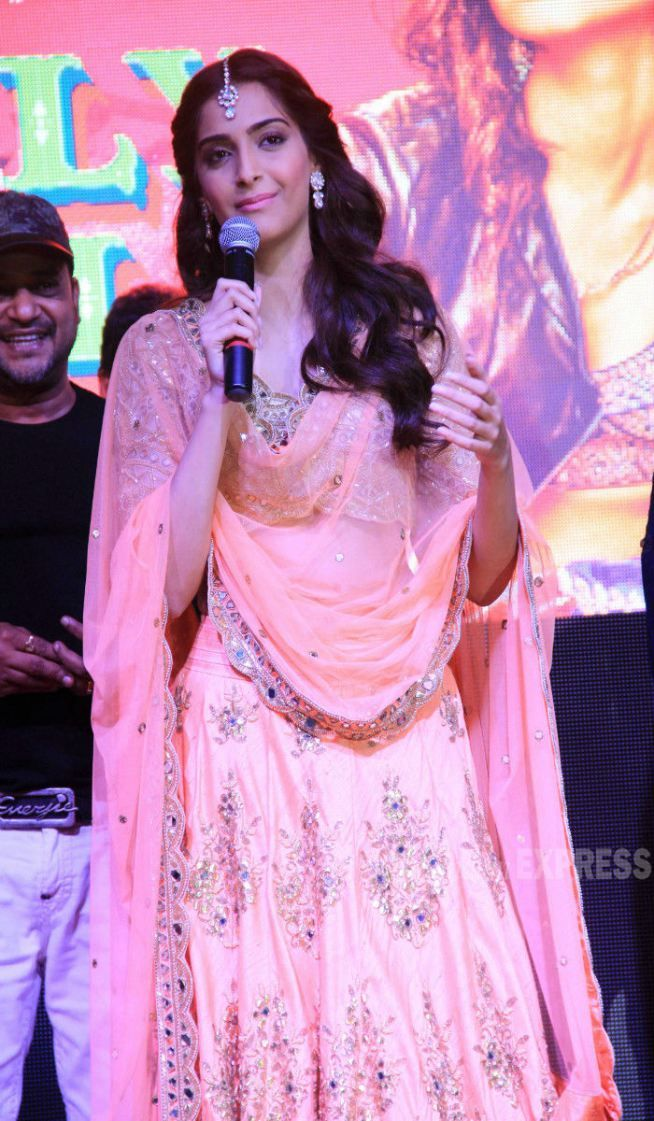 Sonam Kapoor on stage at music launch of \'Dolly Ki Doli\'. #Bollywood ...