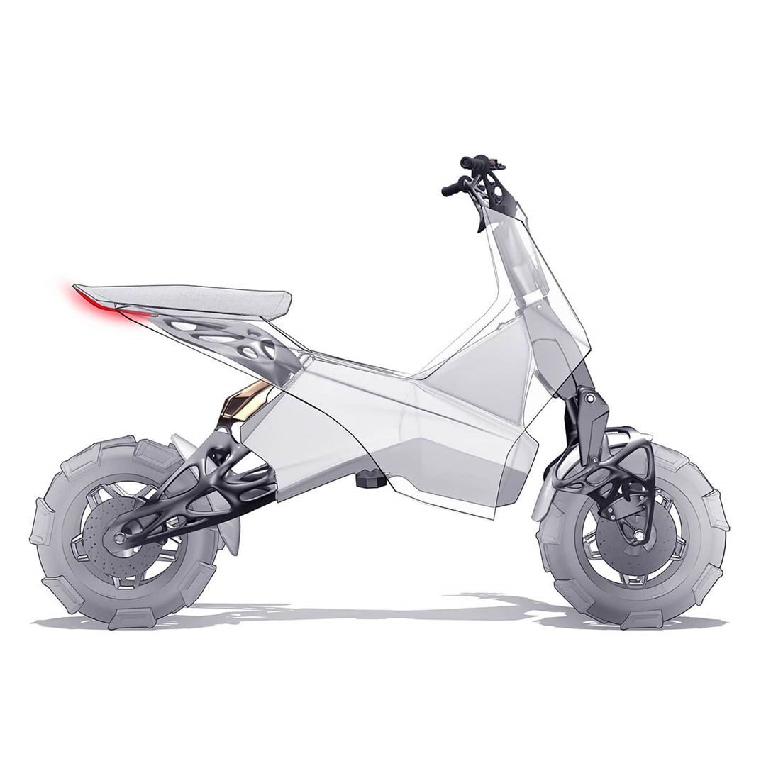 "Bike Design Pro® 在 Instagram 上发布:""Electric powered BRP scooter design by @mcmoto_design.#bikedesignp"