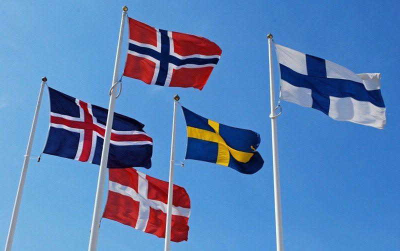 Scandinavian Flags The Nordic Cross Life In Norway Nordic Norway Denmark Flag