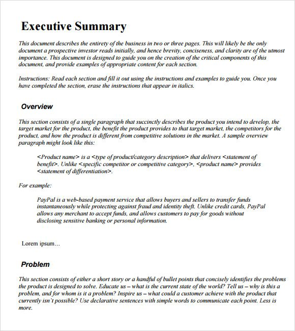 Summary Statement Resume Examples Example Executive Summary Template Aipxipk Incident Report  Home