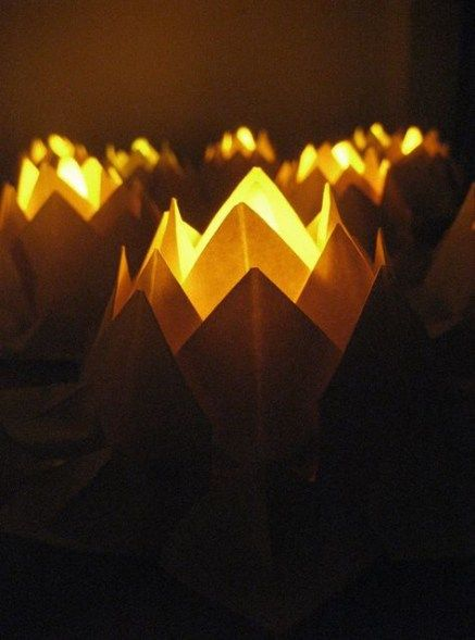 Photo of Origami lotus flower candle holders 66 best ideas