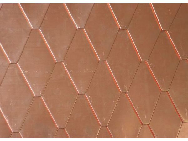 Diamond Shingles Detail Copper Roof Cladding Copper