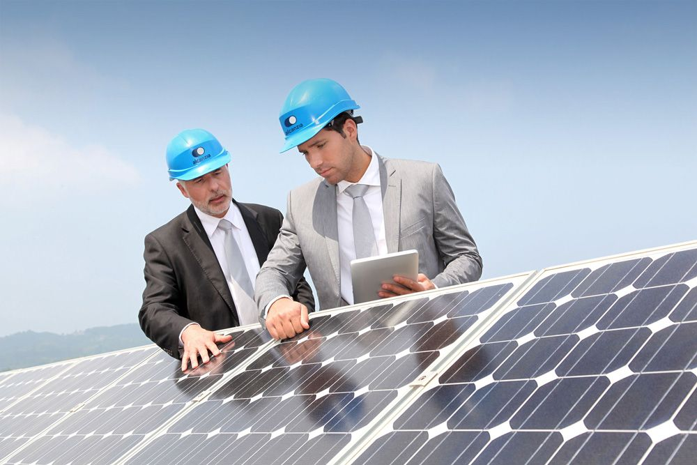 New Logo And Identity For Alcanzia By Small Paneles Solares Planta De Energia Solar Vehiculo Recreativo