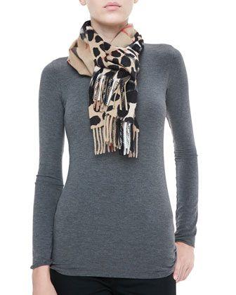 burberry animal scarf