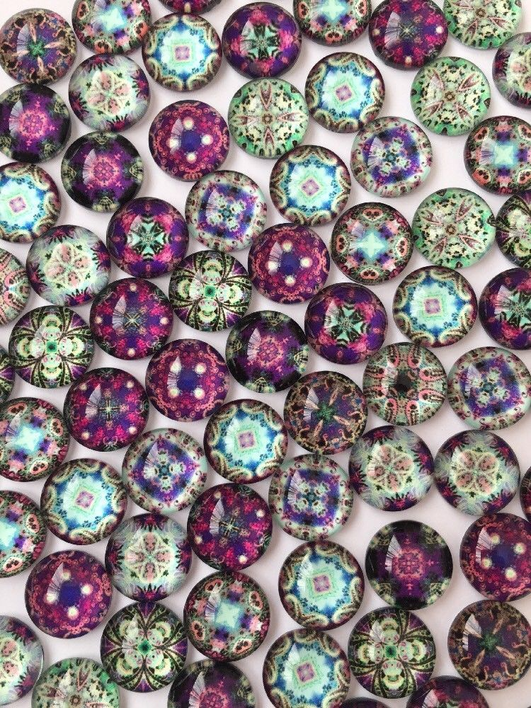 20 BUTTERFLY GLASS CABOCHONS 12MM-FLATBACK//CRAFT//JEWELLERY//GEMS//BUTTERFLIES