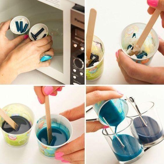 farbige kerzen selber machen, farbige kerzen selber machen-dekoking-3   zukünftige projekte, Design ideen