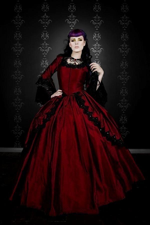 Hottest Red Black Gothic Bridal Wedding Gowns Original A line ...