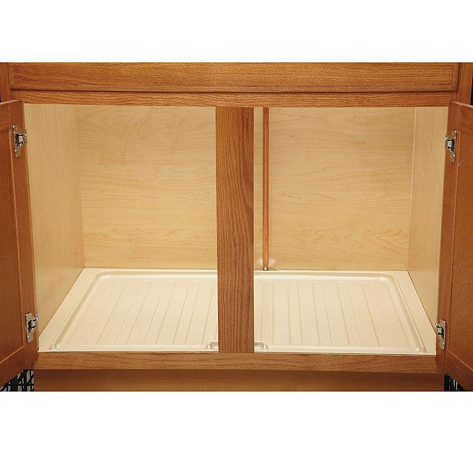 Rev A Shelf Under Sink Base Drip Tray In 2020 Rev A Shelf Cabinets Organization Kitchen Cabinet Accessories