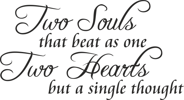 two souls that beat as one two hearts but a single thought id279 thoughts two hearts beats
