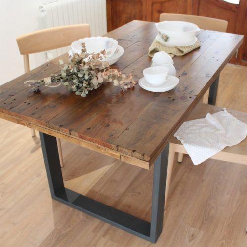 ALCAZABA mesa de comedor | Tableros de madera, Madera reciclada y ...