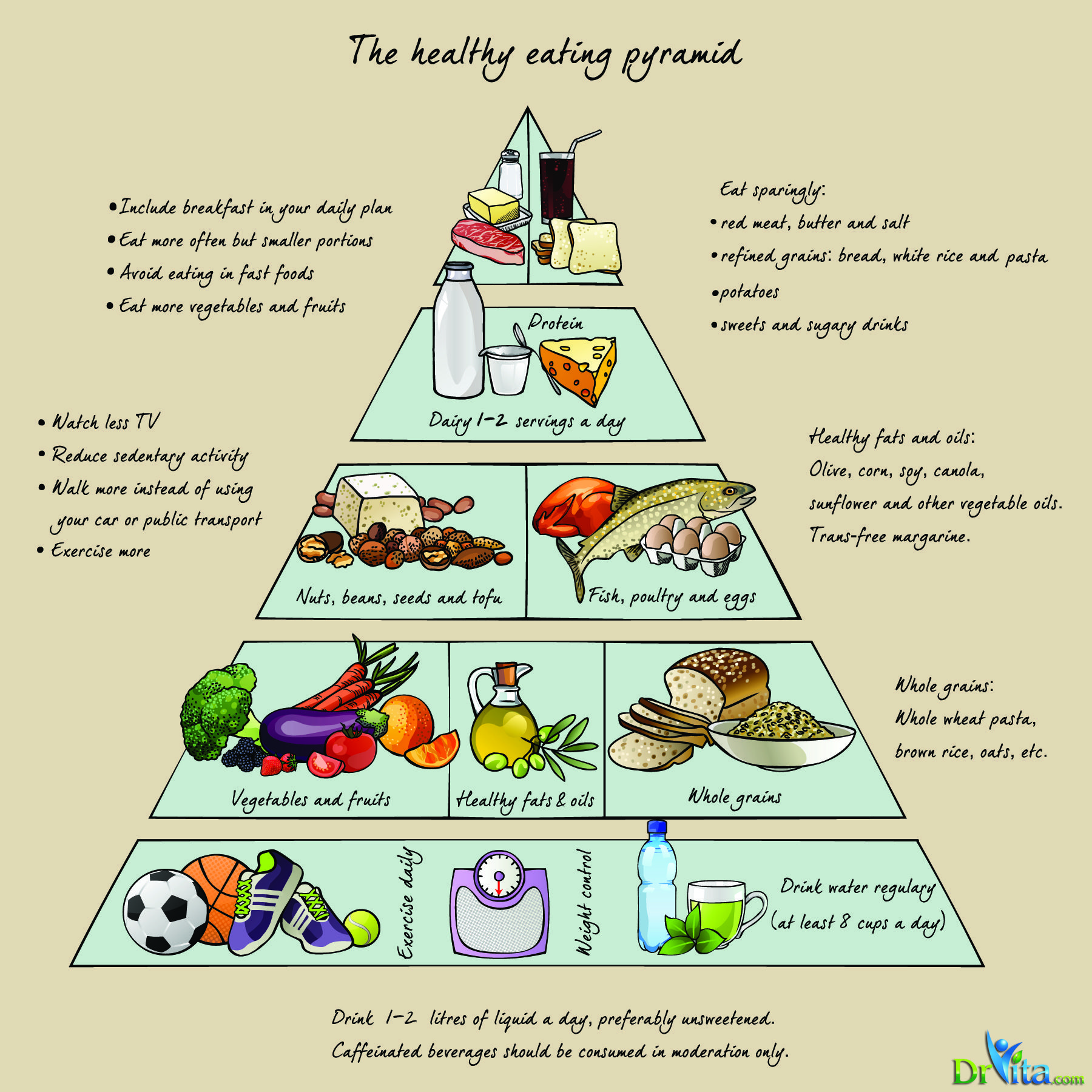 The Healthy Eating Pyramid For The Bettert