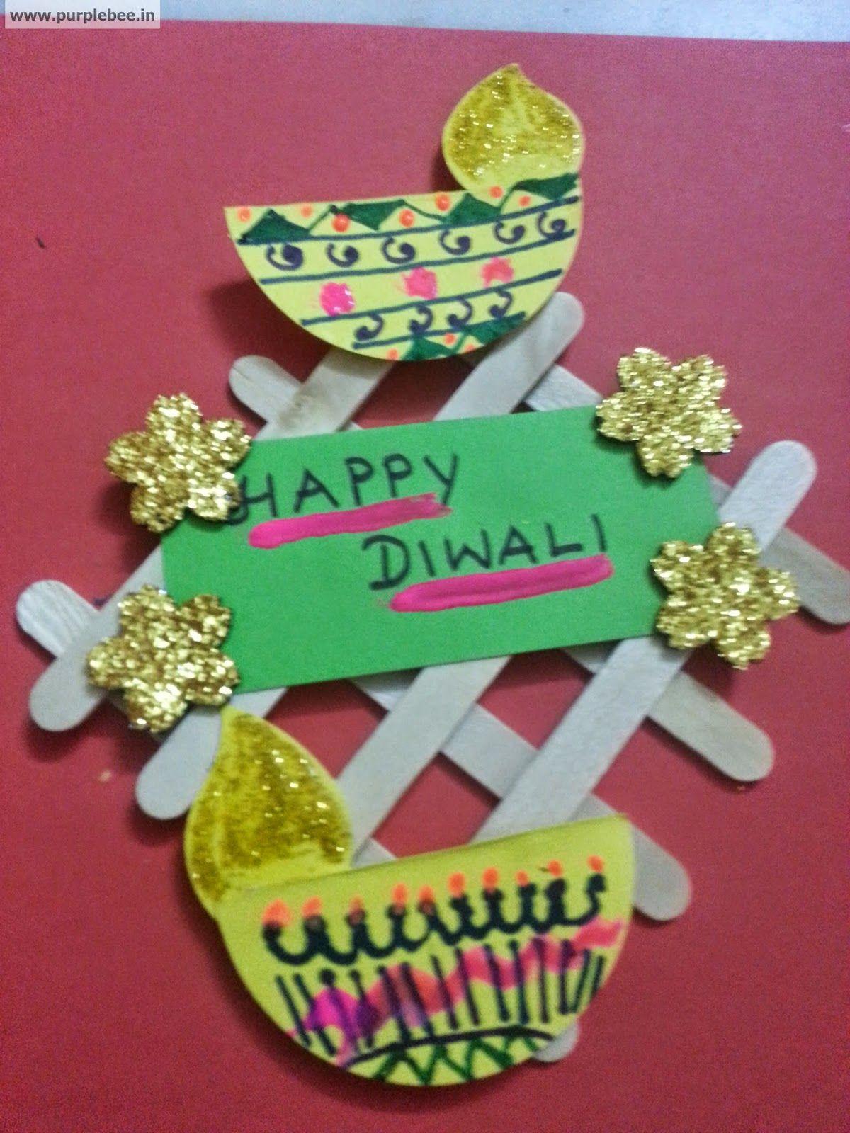 Fun Activities For Children Diwali Fun Craft Door Decor Purple