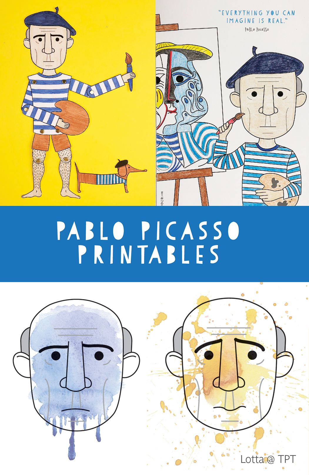 Pablo Picasso Printables For Kids In