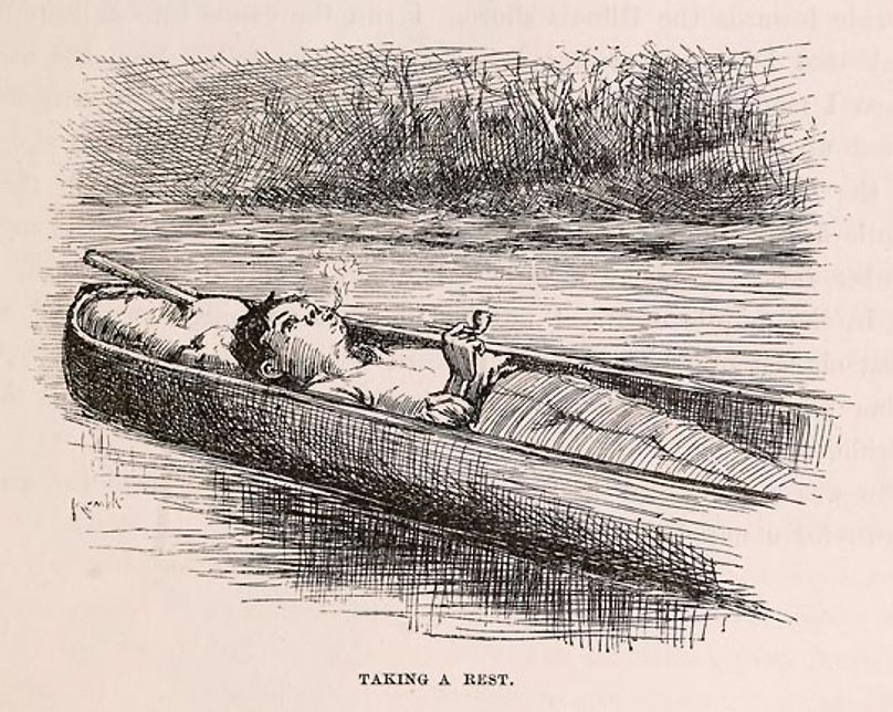 E W Kemble S Illustration Of Huck From The 1884 First Edition
