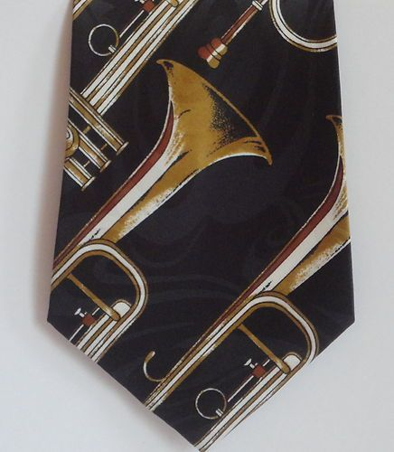 Musical Horn Music Musician Jazz MENS TIE NECKIE For the Music Lover!! Starting at 3.95